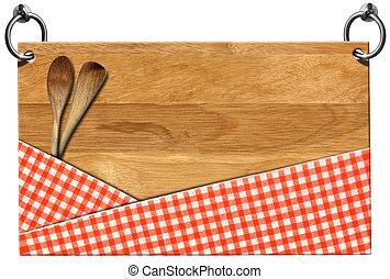 Cutting Board - Signboard with clipping path - Cutting board...