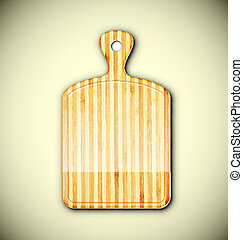 Cutting board - Board for cutting food. Eps 10