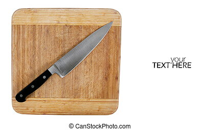 Cutting board with the knife