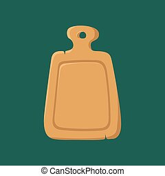 Cutting cooking board vector.