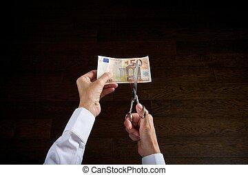 cutting euros