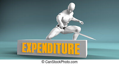 Cutting Expenditure and Cut or Reduce Concept