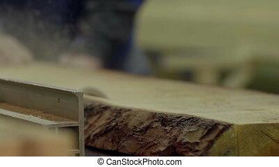 Cutting factory wood