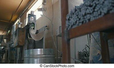 Cutting fiberglass rods - manufacture of composite...