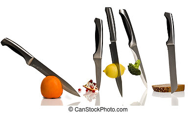 cutting fruit and vegetable