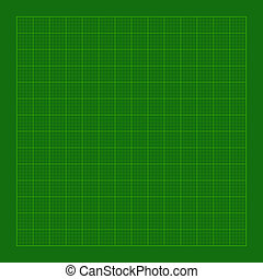 Cutting Green Mat with Greed. Vector