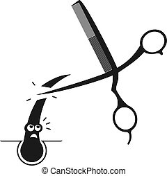 cutting hair illustration