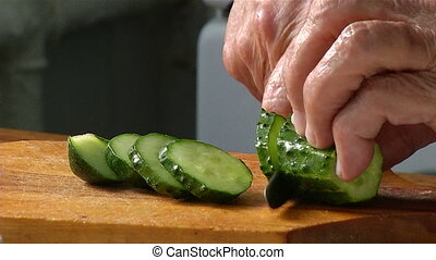 Cutting knife cucumber