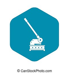 Cutting machine icon, simple style