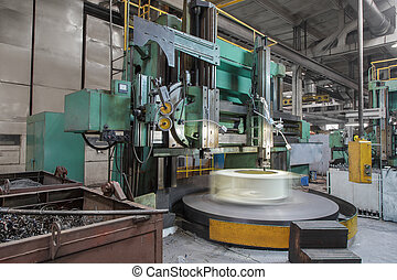 cutting machine-tool - Processing of the holes in the metal...