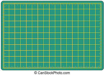 Cutting Mat, Green - Green self healing mat for measuring...