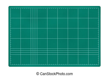 Cutting mat isolated on white background