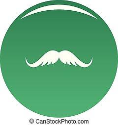 Cutting mustache icon vector green