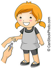 Cutting Nails - A Young Girl Getting Her Nails Cut