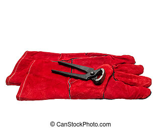 Cutting pliers and protective gloves