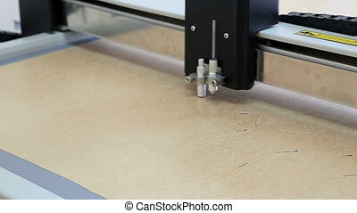 Cutting plotter in action