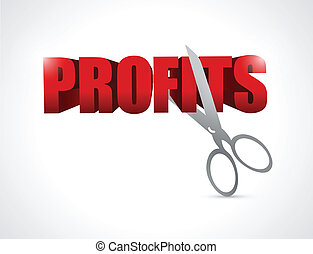 cutting profits. illustration design