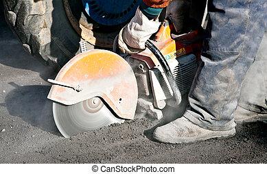 Cutting Road Works