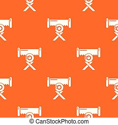 Cutting saw pattern vector orange for any web design best