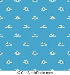 Cutting service pattern vector seamless blue