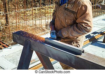 Cutting steel heavy industry by electric flex