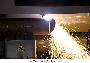 cutting steel steel tube
