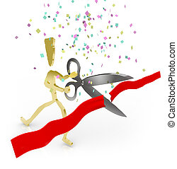 Cutting the Red Ribbon - Grand Opening
