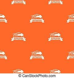 Cuttlefish shop pattern vector orange