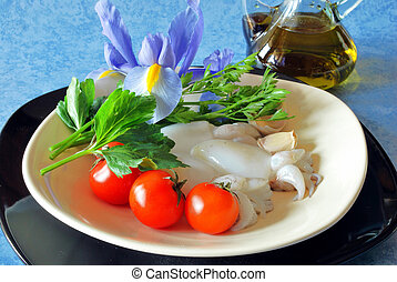 Cuttlefish with tomato sauce