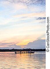 Cuyabeno Ecuador Wildlife Reserve - Sunset Over Laguna ...