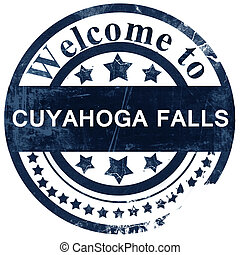 cuyahoga stamp on white background