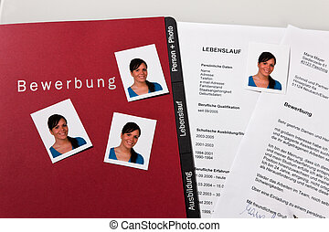 CV and cover letter in German - Application and CV in German