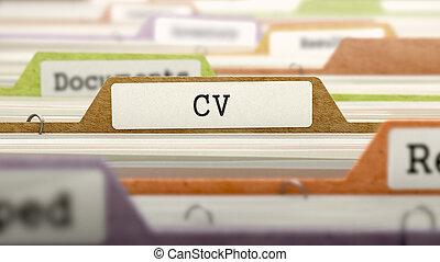 CV Concept. Folders in Catalog.