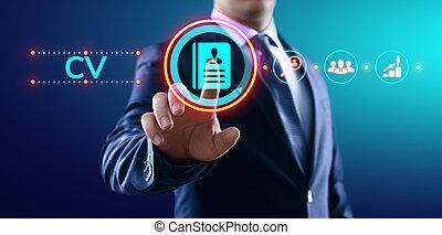 cv, concept., resumen, empresa / negocio, empleo, arriendo, ...