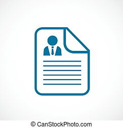 Cv document vector icon