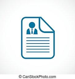 Cv document vector icon