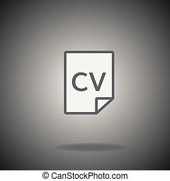 cv icon vector