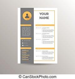 CV / Resume template for job applications