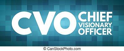 CVO - Chief Visionary Officer acronym, business concept ...