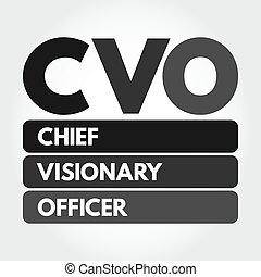 CVO - Chief Visionary Officer acronym concept - CVO - Chief ...
