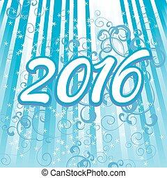 cyan, 2016, numeri, fondo, anno