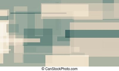 Cyan and light brown rectangles, abstract motion background...