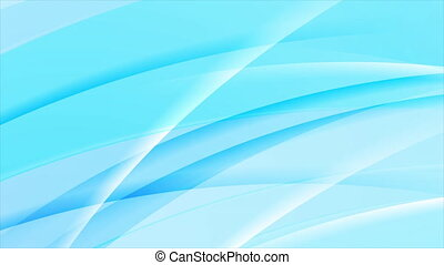 Cyan blue glossy wavy lines abstract video animation - Cyan ...