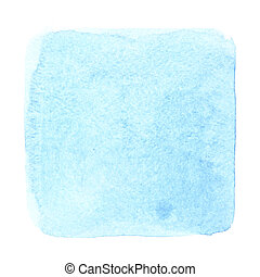 Cyan blue watercolor square