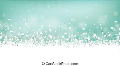 Cyan Christmas Card Header Snowflakes - Cyan christmas...