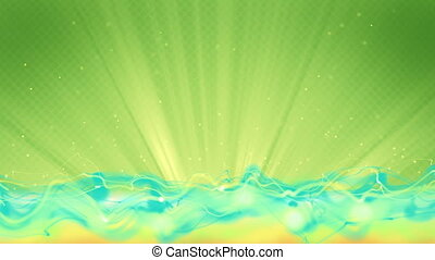 cyan flow and green background loop