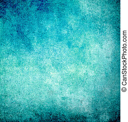 Cyan grunge paint wall background or texture - Cyan blue...