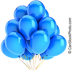 Cyan helium balloons decoration - Cyan balloons modern party...