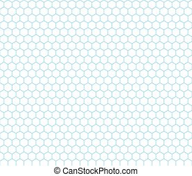 Cyan hexagon grid seamless pattern