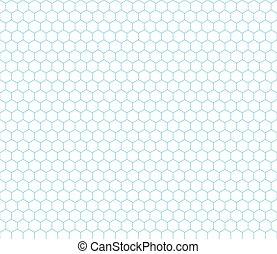 Cyan hexagon grid seamless pattern